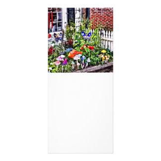 New Hope Pa - Garden Of Ceramic Mushrooms Rack Card