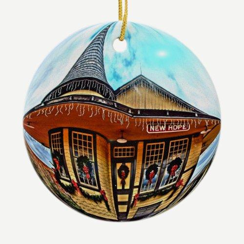 New Hope Station Ornament