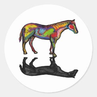 NEW HORIZON HORSE CLASSIC ROUND STICKER