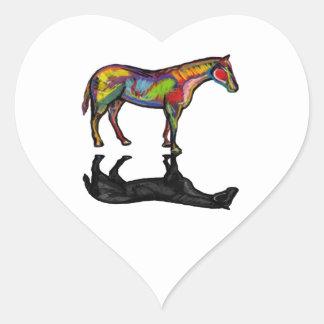 NEW HORIZON HORSE HEART STICKER