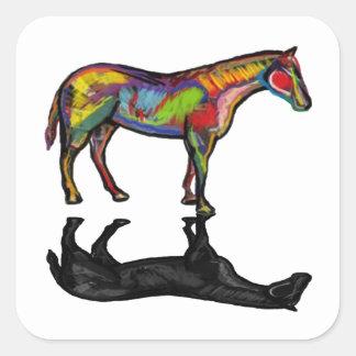 NEW HORIZON HORSE SQUARE STICKER