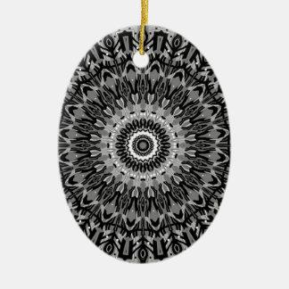 New Horizons Black and White Kaleidoscope Christmas Ornament