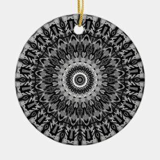 New Horizons Black and White Kaleidoscope Christmas Tree Ornament
