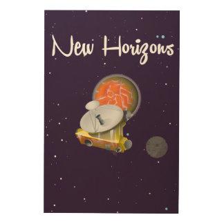 New Horizons espacia el arte en la postal de Impresión En Madera