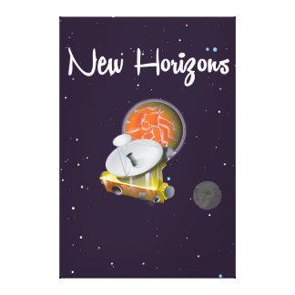 New Horizons espacia el arte en la postal de Lona Envuelta Para Galerías
