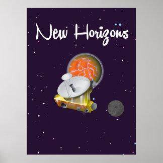 New Horizons espacia el arte en la postal de Póster
