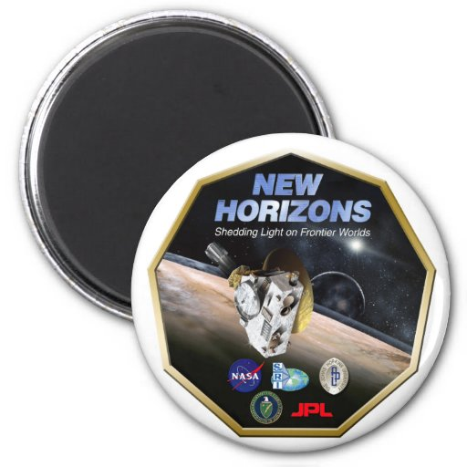 New Horizons Mission To Pluto! 2 Inch Round Magnet