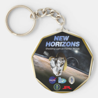 New Horizons Mission To Pluto! Basic Round Button Keychain