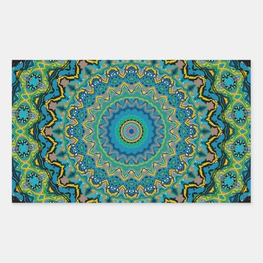 New Horizons No. 3 Kaleidoscope Rectangle Sticker