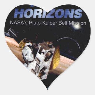 New Horizons Operations Team Logo Heart Sticker