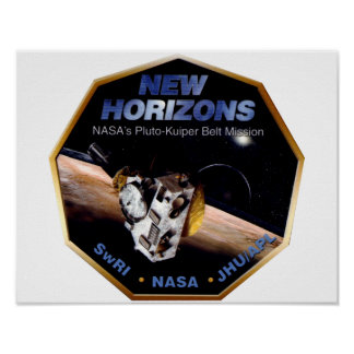 New Horizons Operations Team Logo Poster