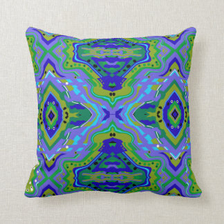 New Horizons Periwinkle and Green Pillow