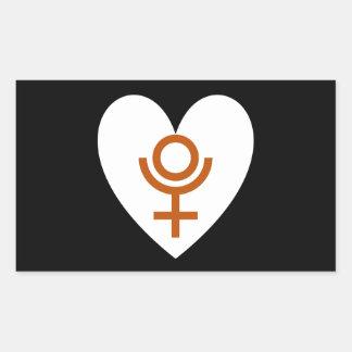 New Horizons Pluto Heart Flag Sticker