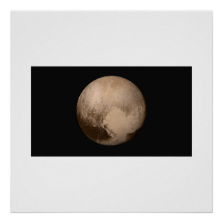 New Horizons - Pluto in True Colour Poster