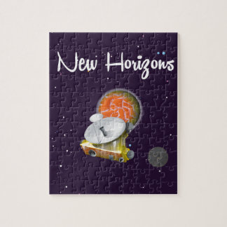New Horizons Space craft at Pluto Post Card Jigsaw Puzzle