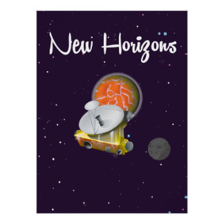 New Horizons Space craft at Pluto Post Card Poster