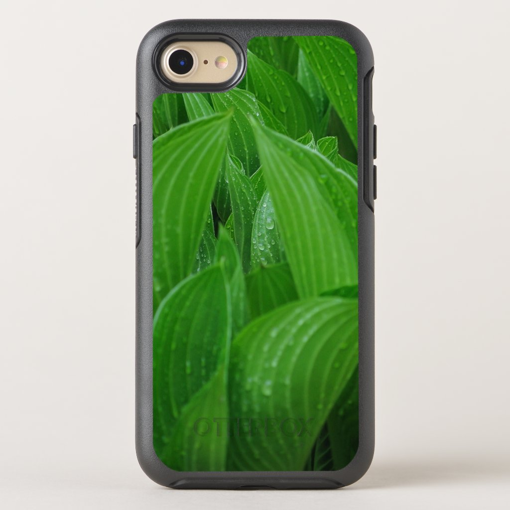 New Hosta Leaves with Raindrops OtterBox Symmetry iPhone 7 Case