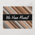 [ Thumbnail: New House; Blurry Rustic Inspired Stripes Pattern Postcard ]