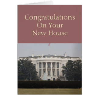 New House - Congratulations On Your New House Greeting Card