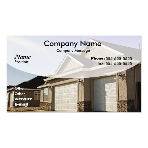 New House Construction Double Sided Standard Business