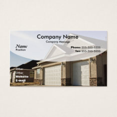 New House Construction Business Card at Zazzle