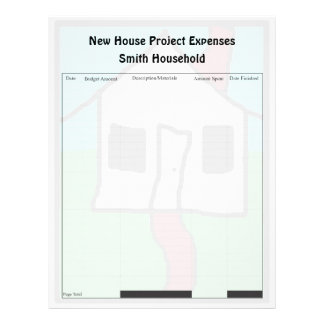 New House Project Expense Page