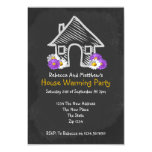 New House Warming Party Blackboard Doodle Custom Invites
