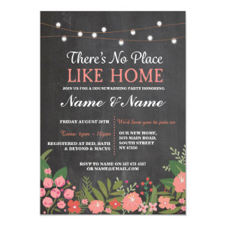 New House warming Sweet Home Key Chalkboard Invite
