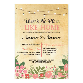 New House warming Sweet Home Key Invitation Invite