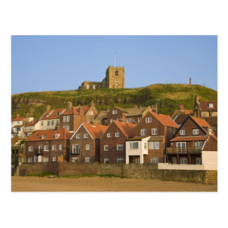 New housing and St Margarets church, Whitby, Postcard