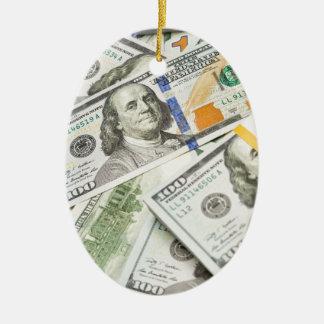 New Hundred Dollar Bills Christmas Tree Ornaments