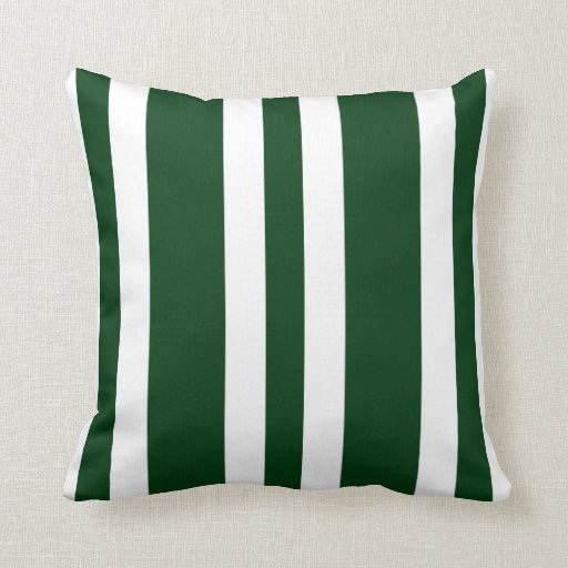 Hunter Green Throw Pillow : New Hunter Green & White Stripe Couch Pillow Gift Zazzle