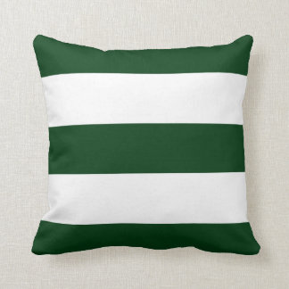 New Hunter Green & White Stripe Couch Pillow Gift
