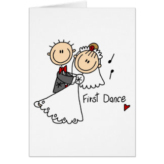 New Husband And Wife's First Dance Card