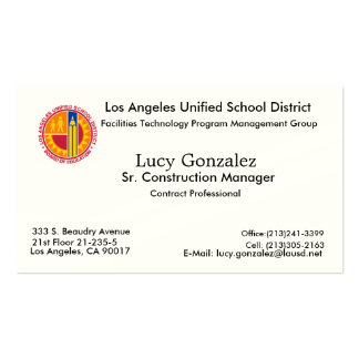 New Image, Lucy Gonzalez, Los Angeles, CA 90017... Double-Sided Standard Business Cards (Pack Of 100)