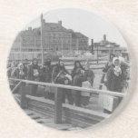 New Immigrants Landing at Ellis Island New York Beverage Coaster
