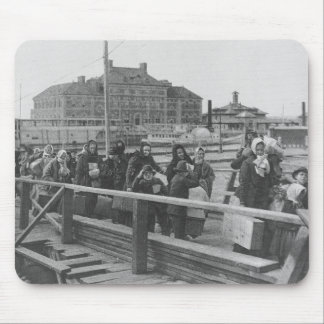 New Immigrants Landing at Ellis Island New York Mouse Pad