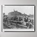 New Immigrants Landing at Ellis Island New York Posters