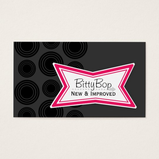 New & Improved BittyBop Business Cards