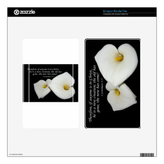 new in Christ scripture with lilies kindle cover Kindle Fire Skins