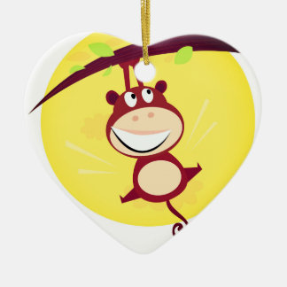 New in shop : Acrylic heart with Little Monkey Ceramic Ornament