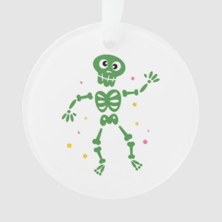 New in shop : Dancing cute Skeleton green Ornament