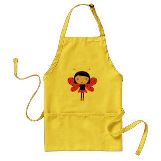 New in shop : Kitchen yellow apron with Lady bee