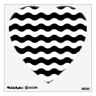 New in shop : old wave hand-drawn heart shape wall sticker