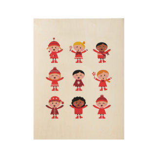 New in shop : Wooden poster with little Kids