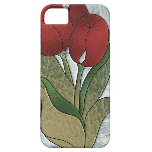 NEW iphone5 Stained Glass Tulips cover iPhone 5 Cases