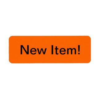 New Item Merchandise Tags Label