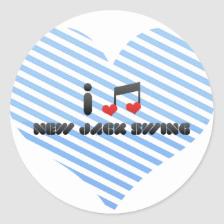 New Jack Swing Round Stickers