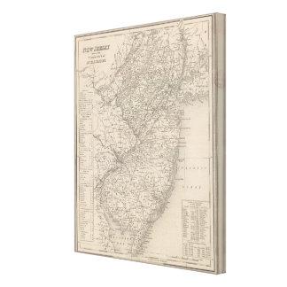 New Jersey 10 Impresión En Lona Estirada