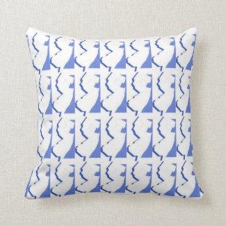 New Jersey 16 X 16 Grade A Cotton Throw Pillow